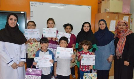 Competition Awards to the Top Students in  Fun Lab