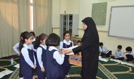 برگزاری کلاس قرآن برای دانش آموزان پایه اول ابتدایی بخش بین الملل