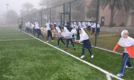 برگزاری مسابقه دو سرعت و طناب زدن بین دانش آموزان دختر پایه چهارم الی ششم بین الملل به مناسبت دهه فجر